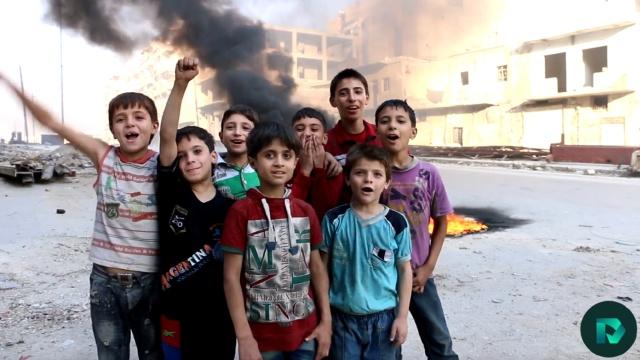 硝烟之上,叙利亚儿童宣战