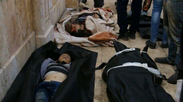 阿勒颇医院:地板上进行的开颅手术