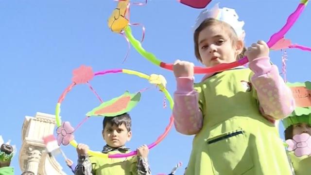 阿勒颇儿童集会,呼吁和平停战