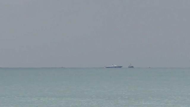俄失事飞机海上搜救现场