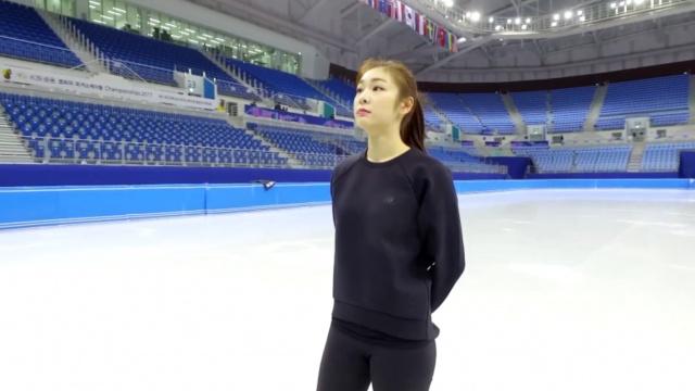 韩花滑天后金妍儿优雅试滑冬奥冰场