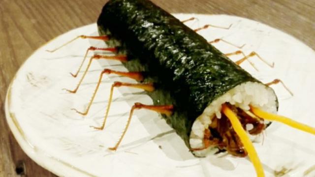 日本推出昆虫寿司卷,咬起来嘎嘣脆