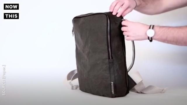 设计师推出纸背包 让时尚更环保