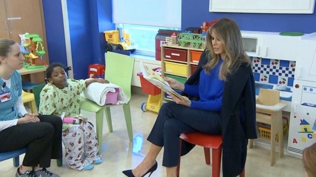 第一夫人为患儿阅读,依然被媒体喷