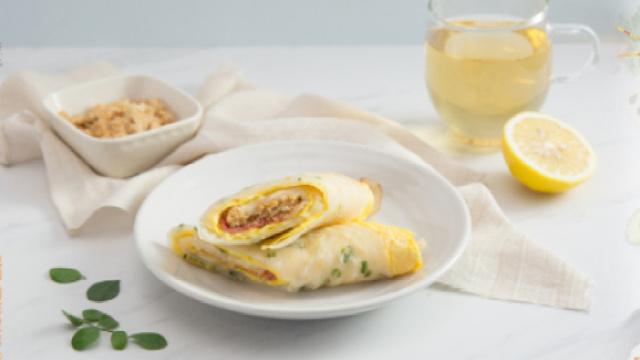 台式葱花培根蛋饼,从此爱上早餐