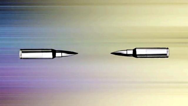 如果两颗子弹正面对撞,会发生啥?