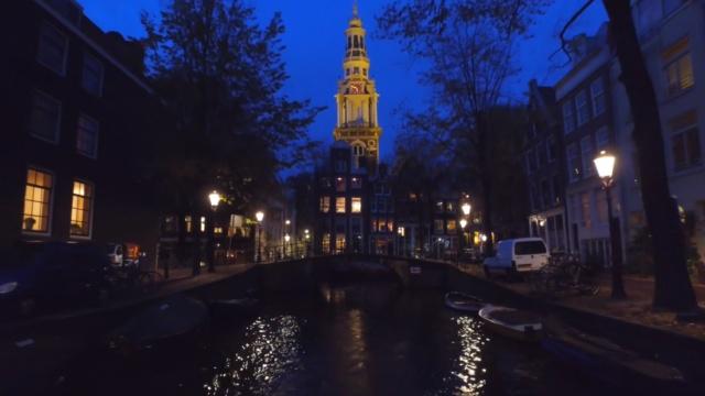 惬意!划船夜游阿姆斯特丹