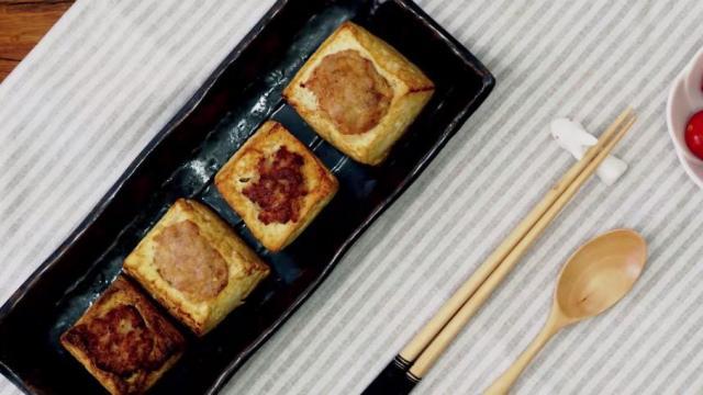 豆腐的创意新吃法——布袋酿豆腐