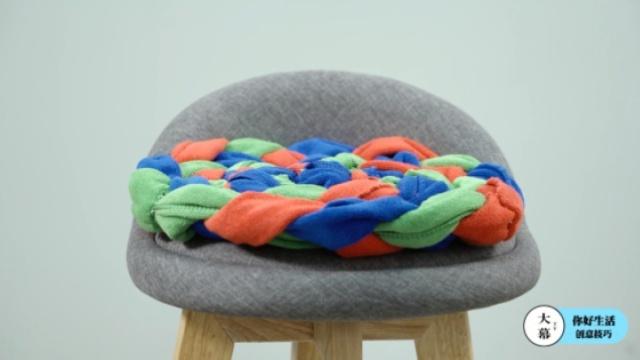 旧物大改造——旧毛巾化身精美坐垫