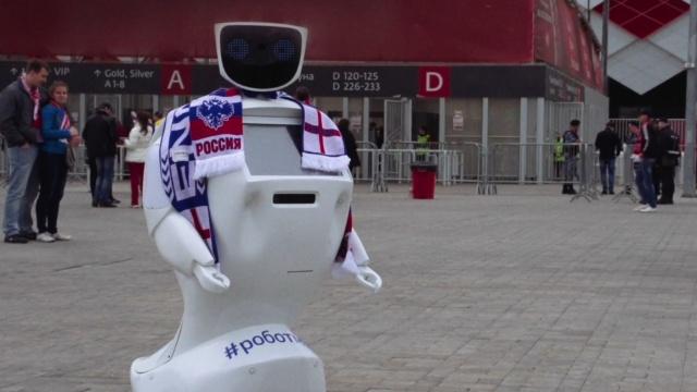 俄国研发机器人保护英球迷:报警快