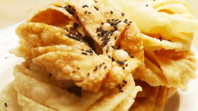饺子皮也可以做成名小吃!