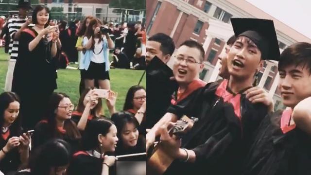 你唱歌我陪舞,看毕业男女花式互撩
