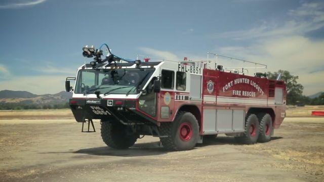 机场的守护神,豪士科特种消防车