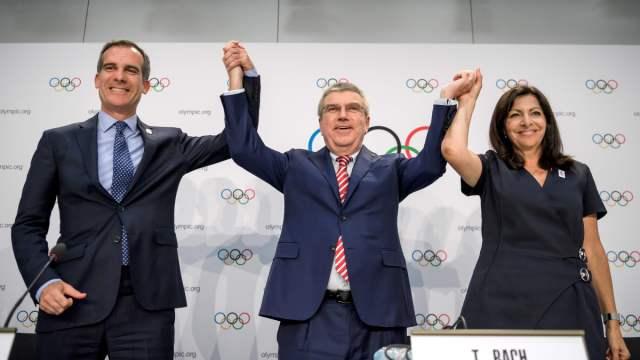 巴黎洛杉矶同时赢得奥运会承办权
