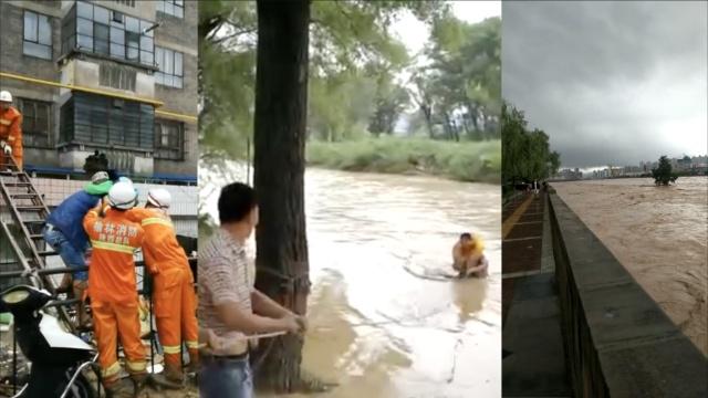 暴雨袭榆林,消防抢救转移3500余人