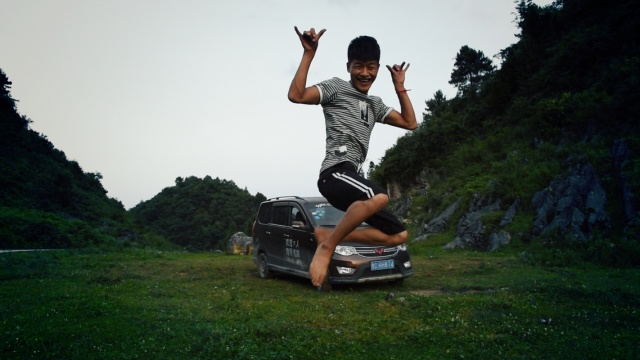不是传说!我在贵州拍到秋名山车神