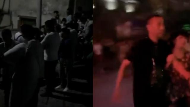 视频 九寨沟地震,市民裹被子跑出