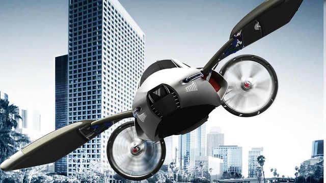 世界首辆飞行汽车,1分钟变飞机