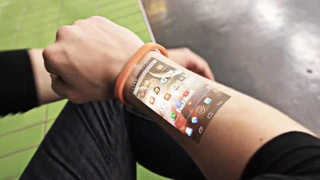 可投影手臂的手机,创新颠覆苹果