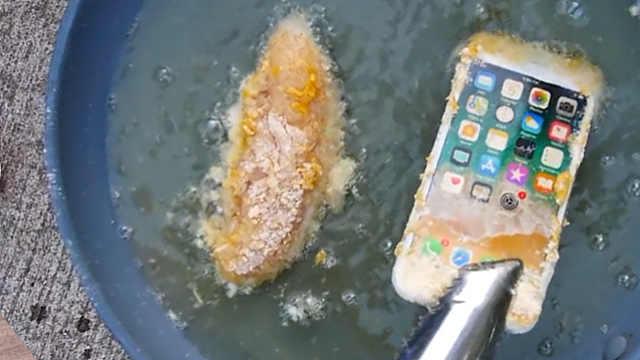 作死星人试验油炸iPhone 8更入味?