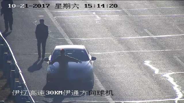 女司机高速蛇形倒车,副驾人肉挡牌