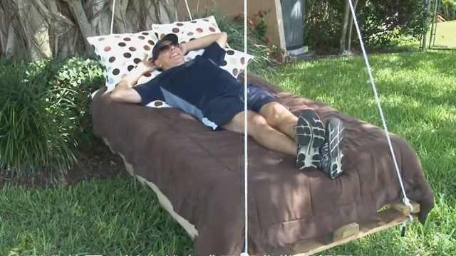 自己也能动手做的夏日摇床