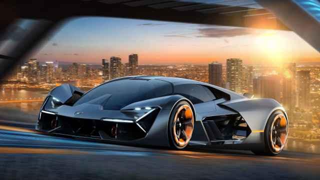 兰博基尼的超级电容概念电动车