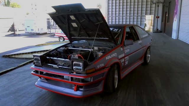 满载锂离子电池组,AE86成了电动车