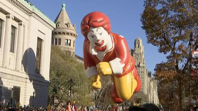 纽约感恩节游行,金拱门叔叔也来了