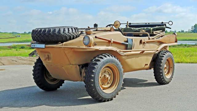二战时,大众为德军生产的两栖小车