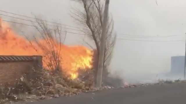 村民燎荒引大火,火借风势蔓延4个村