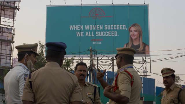 印度人欢迎伊万卡:她来就有新路