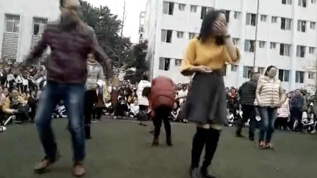 会玩!这中学高三老师带学生跳热舞