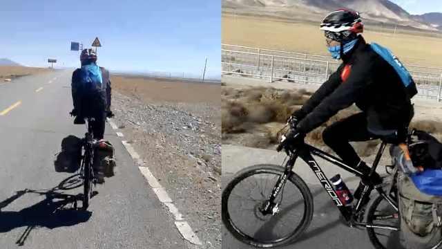 他仅一条腿,却骑单车征服2800公里