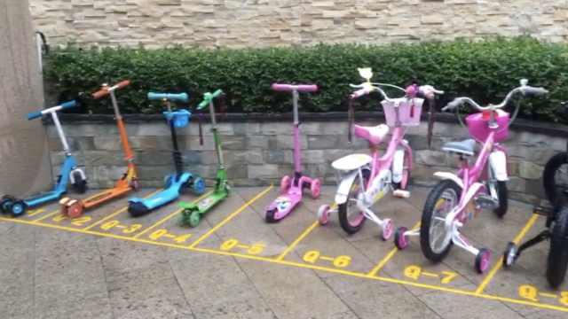 幼儿园画停车格,赖床娃早起抢车位