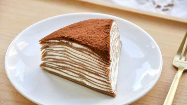没烤箱也能做蛋糕~咖啡千层蛋糕