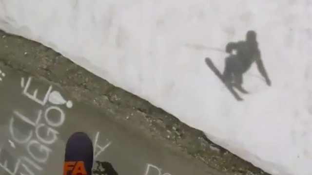 第一视角滑雪,超级刺激!
