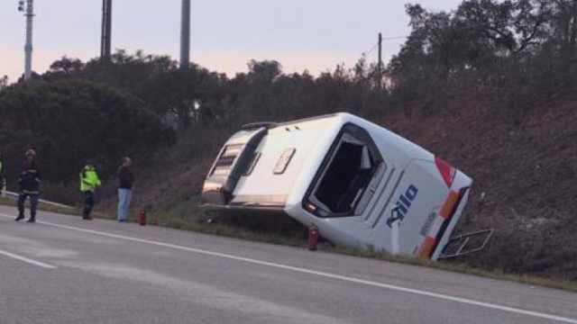 中国游客大巴葡萄牙翻车,26人受伤