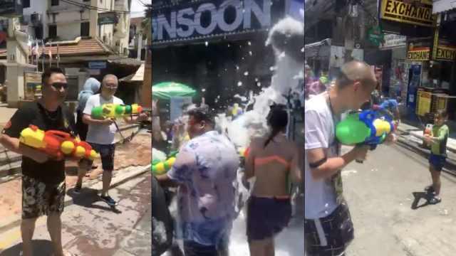 普吉岛上过泰国泼水节,嗨翻天啦!