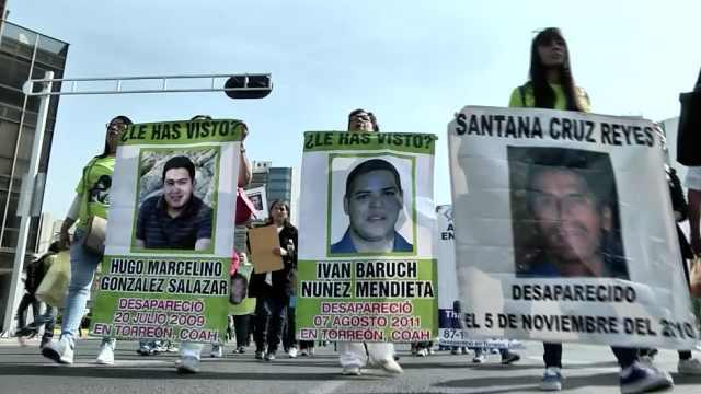 母亲节,墨西哥母亲为失踪子女游行