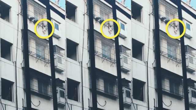 女孩头悬5楼防盗窗,市民爬窗顶回