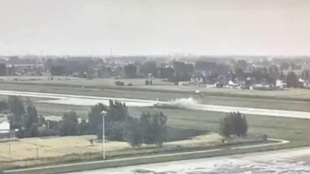 公务机训练偏出跑道,扬州机场关闭