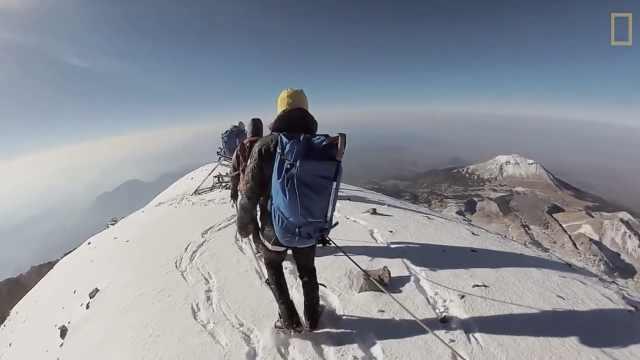 8小时挑战!他们登上美国最高火山