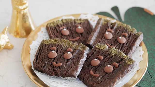自制简单的巧克力饼干,可爱的饼干