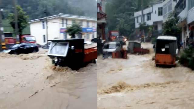 暴雨袭湖北!洪水涌街道,百余店被淹