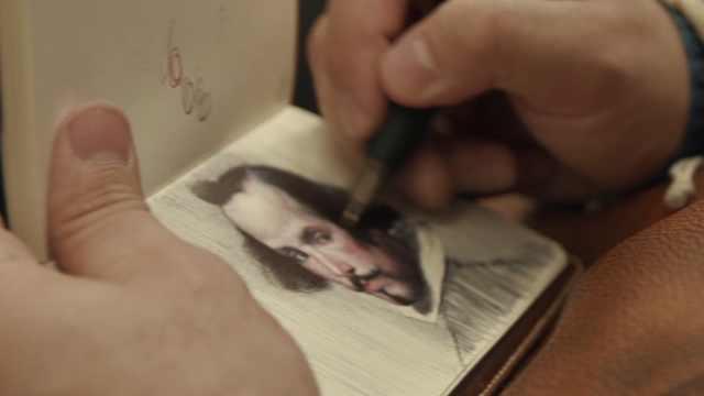 画家用圆珠笔作画,令人拍案叫绝