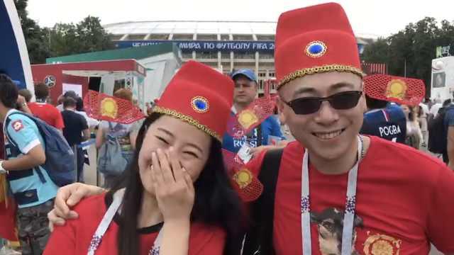 国足何时进世界杯?中国女球迷笑了