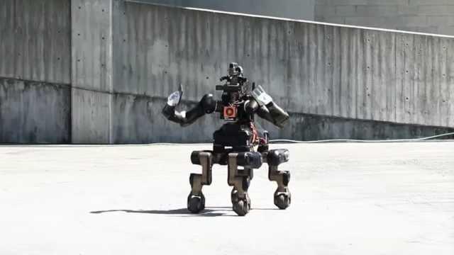 新救援机器人双臂四足,还会铁砂掌