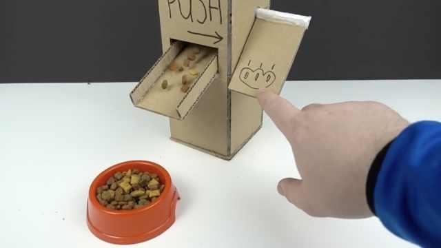 5分钟教你用纸板做精美自动猫粮机