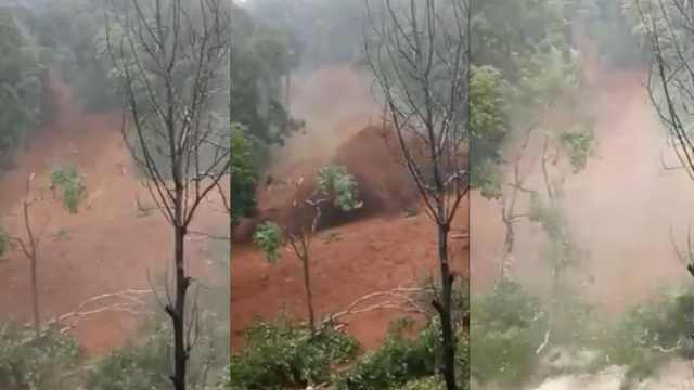 直击泥石流瞬间,印洪水致多人死亡